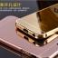 (025-1100)เคสมือถือไอโฟน case iphone 5/5s/SE เคสกรอบบัมเปอร์โลหะฝาหลังอะคริลิคแววกึ่งกระจก thumbnail 1