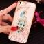 (025-1101)เคสมือถือไอโฟน case iphone 5/5s/SE เคสนิ่มซิลิโคนใสลายหรูติดคริสตัล พร้อมแหวนเพชรวางโทรศัพท์ thumbnail 14