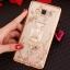 (025-1047)เคสมือถือซัมซุง Case Samsung Galaxy J5 2016 เคสนิ่มซิลิโคนใสลายหรูประดับคริสตัล พร้อมแหวนเพชรตั้งโทรศัพท์ thumbnail 4