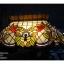 โคมไฟเพดาน stainglass ทรงรี รหัส15261ss3 thumbnail 1