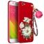 (694-016)เคสมือถือ Case OPPO R9s Plus/R9s Pro เคสนิ่มคลุมเครื่องสีแดงลายดอกไม้แฟชั่นสวยๆ พร้อมสายคล้องมือลายดอกไม้ thumbnail 2