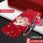 (694-016)เคสมือถือ Case OPPO R9s Plus/R9s Pro เคสนิ่มคลุมเครื่องสีแดงลายดอกไม้แฟชั่นสวยๆ พร้อมสายคล้องมือลายดอกไม้ thumbnail 3