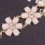 Princess White Flower Bracelet สร้อยข้อมือออกงานรูปดอกไม้แต่งหินสีขาวเจ้าหญิง thumbnail 3